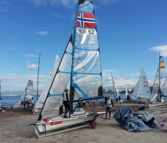 The new Olympic classes the Nacra 17 and the 49er FX are set to hit the water
